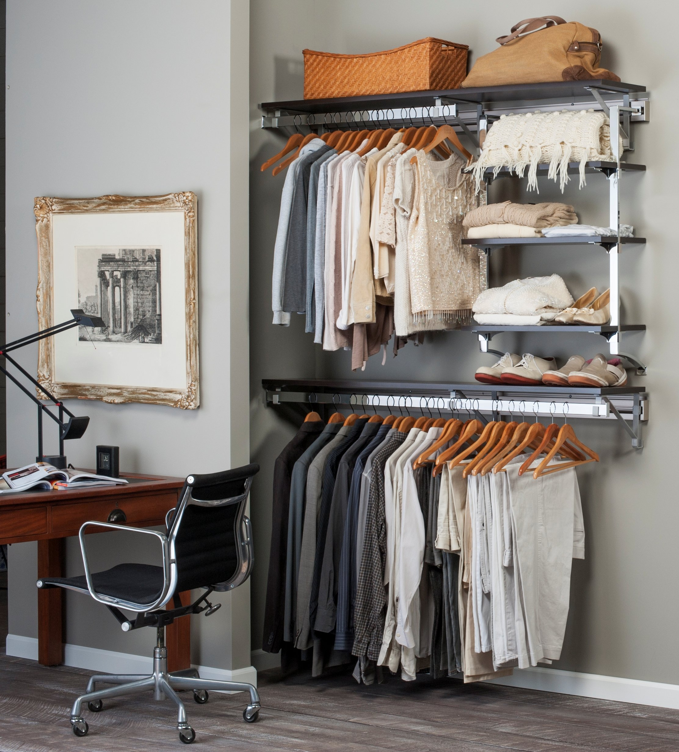Arrange a Space DHX.72.W Select Closet System with Adjustable Shelves, 72 by 11.75 by 84-Inch, White