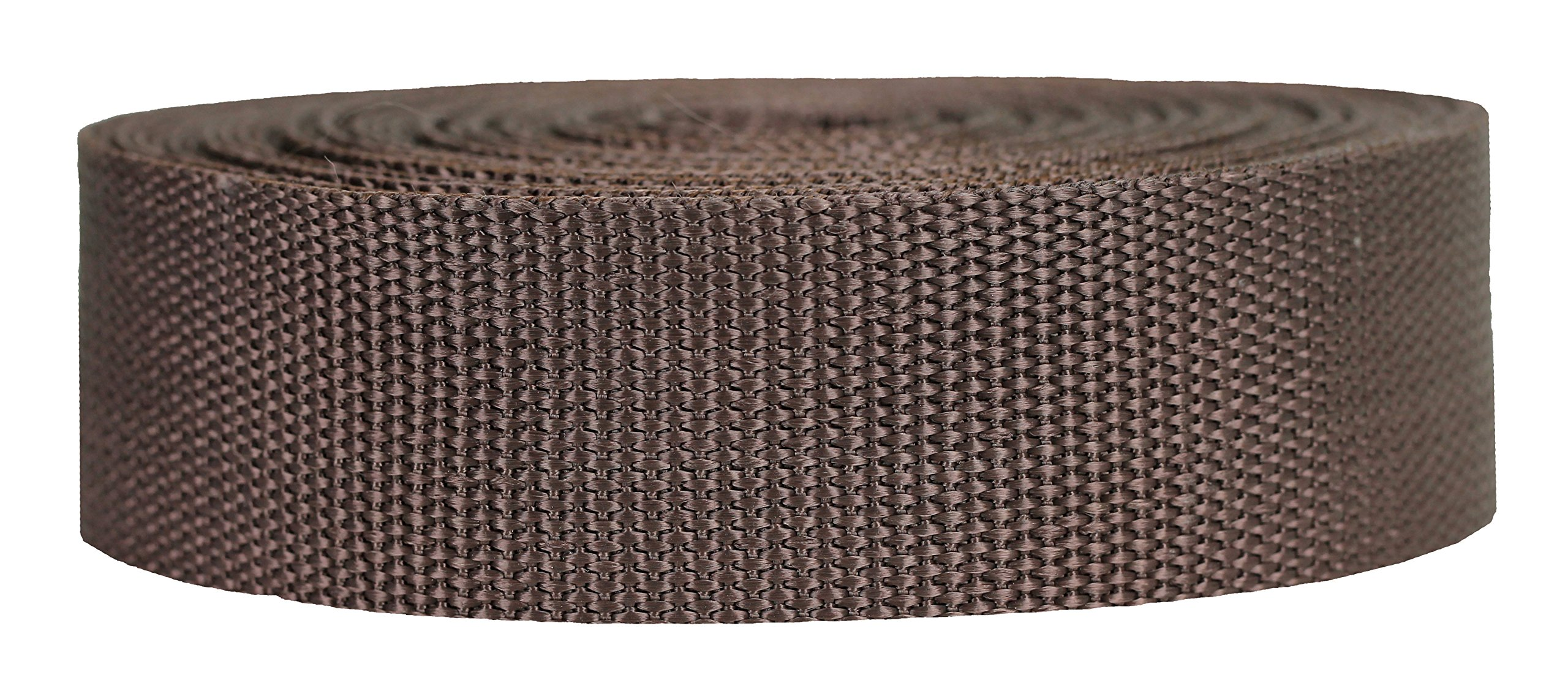 Strapworks Heavyweight Polypropylene Webbing - Heavy Duty Poly Strapping for Outdoor DIY Gear Repair, 1.5 Inch x 25 Yards, Brown
