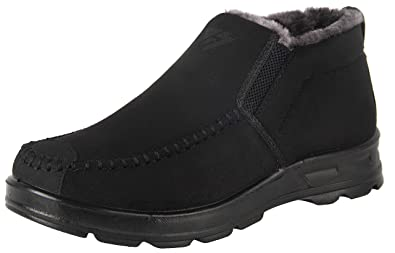 81c9227f0c3d iLoveSIA Men s Warm Fur Lining Winter Outdoor Casual Snow Ankle Boots Black  Suede US Size 8