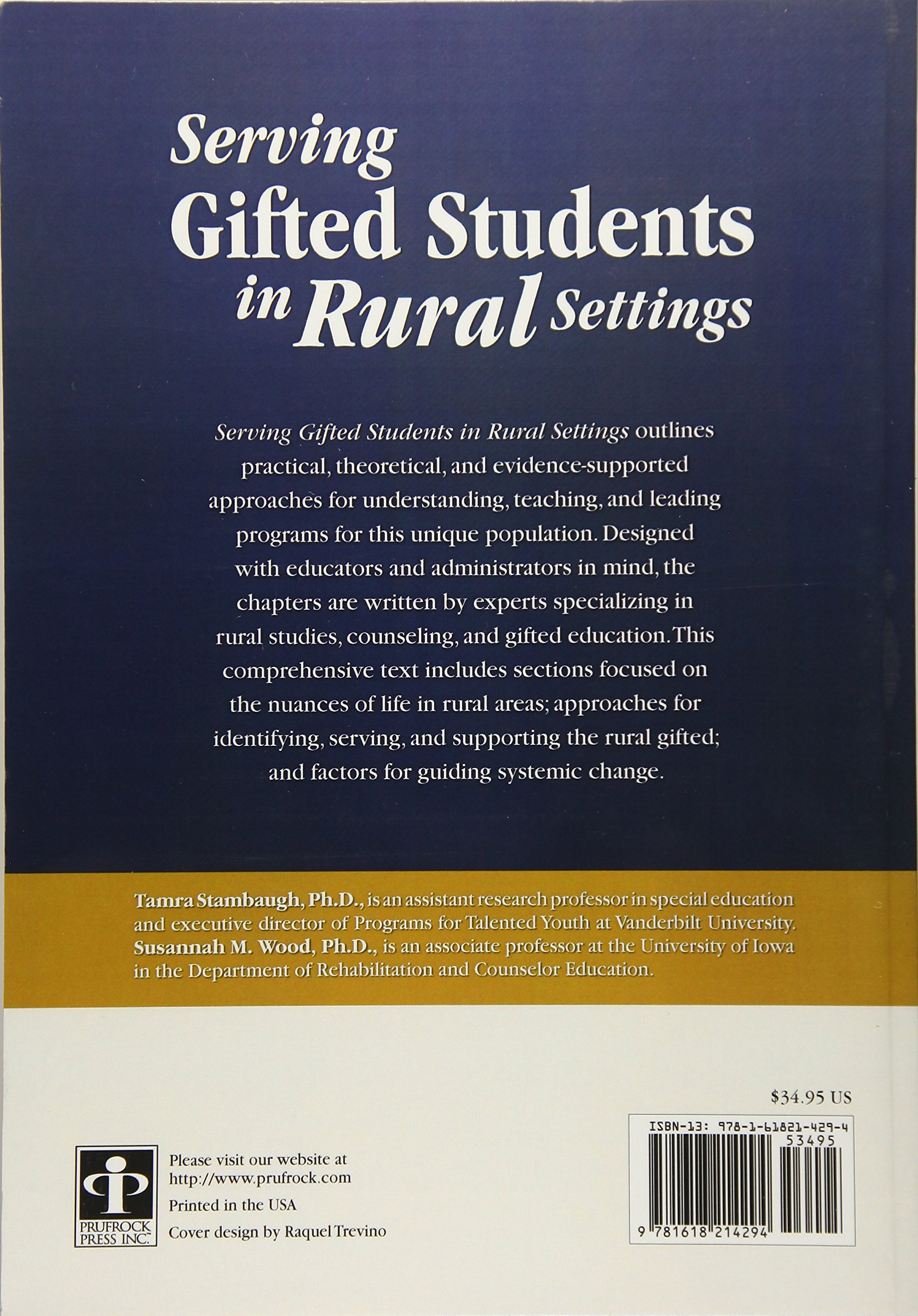 Amazon.com: Serving Gifted Students in Rural Settings (9781618214294):  Tamra Stambaugh Ph.D.: Books