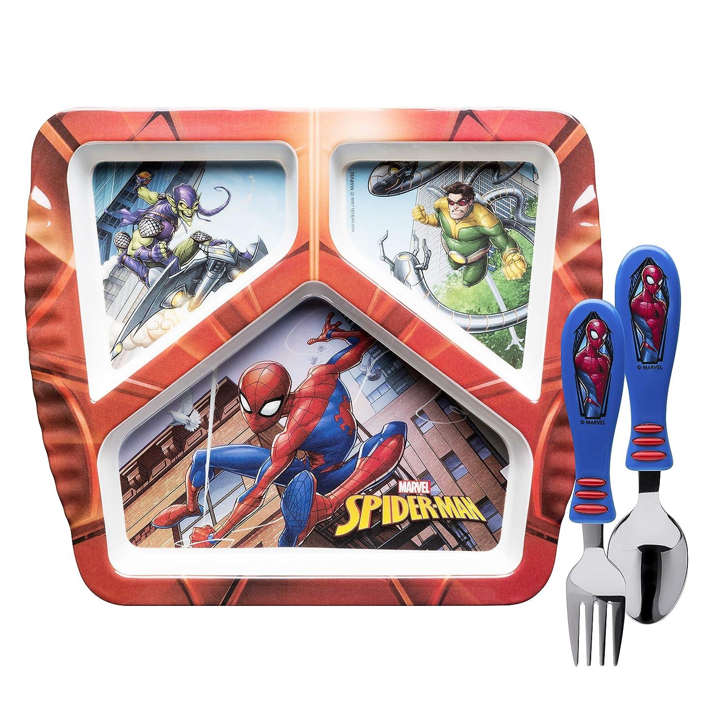 豪華で新しい (Plate Flatware, + Sets, B07JR5H127 Flatware, Spiderman 3pc) - Zak Designs SDNU-2070-AMZ Marvel Comics Kids Dinnerware Sets, Plate + Flatware, Spiderman 3pc Plate + Flatware Spiderman 3pc B07JR5H127, キハチオンラインショップ:244beadd --- a0267596.xsph.ru