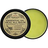 Essential Oil Heal All Balm with Lavender Oil, Soothes Dry Cracked Skin, Hands & Feet, Calms Irritated and Inflamed Skin, Speeds Healing for Cuts & Bruises