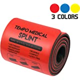 """TEMPO MEDICAL SPLINT For Immobilization First Aid Kit for Neck, Leg, Knee, Foot, Wrist, Hand, Arm Injuries Lightweight, Flexible, Washable, Reusable 36"""" x 4.25"""""""