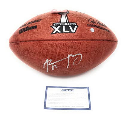 a7d80578839 Aaron Rodgers Green Bay Packers Signed Autograph NFL Authentic Super Bowl  XLV Duke NFL Football Steiner Sports Certified at Amazon s Sports  Collectibles ...