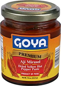 Goya Foods Aji Mirasol Dried Yellow Hot Pepper Paste, 7.5 Ounce (Pack of 12)