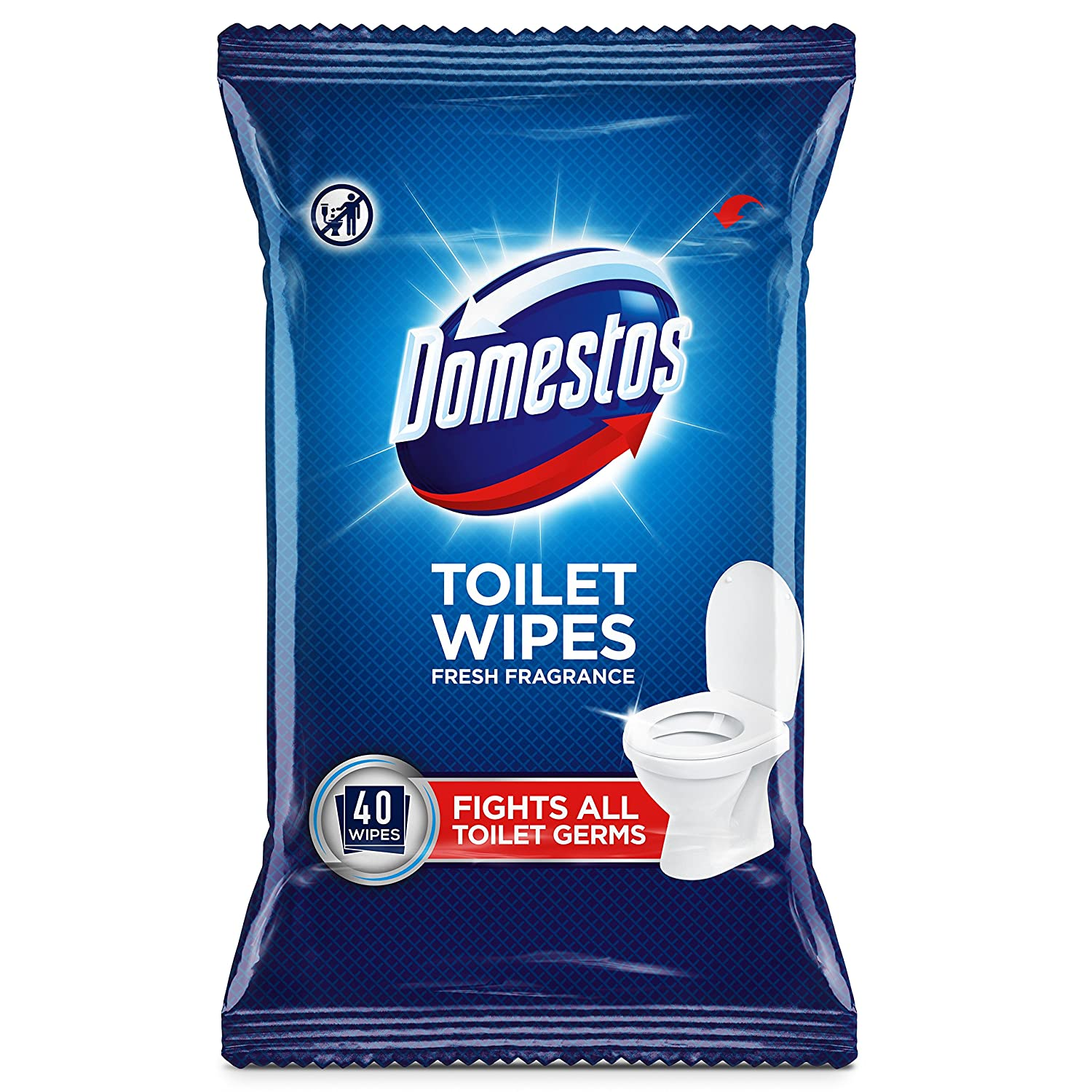 Domestos Toilet 400 Wipes (40 x pack of 10) Unilever UK Limited 8712561066709