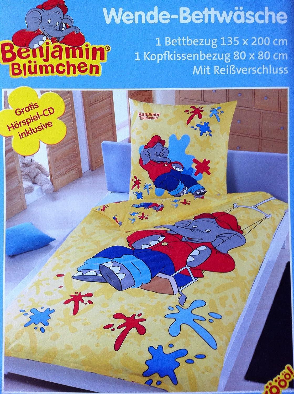 Benjamin Blümchen Bettwäsche Wende Bettwäsche Mit Hörspiel Cd Nr 7