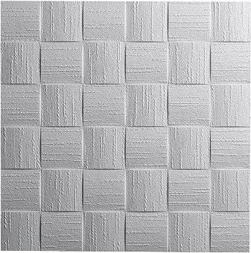 Decosa Deckenplatten Dublin Ap 106 16 Platten 4 M2 Dekor Paneele Weiss In Flecht Optik Deckenpaneele Aus Styropor Styroporpaneele 50 X 50 Cm Amazon De Baumarkt