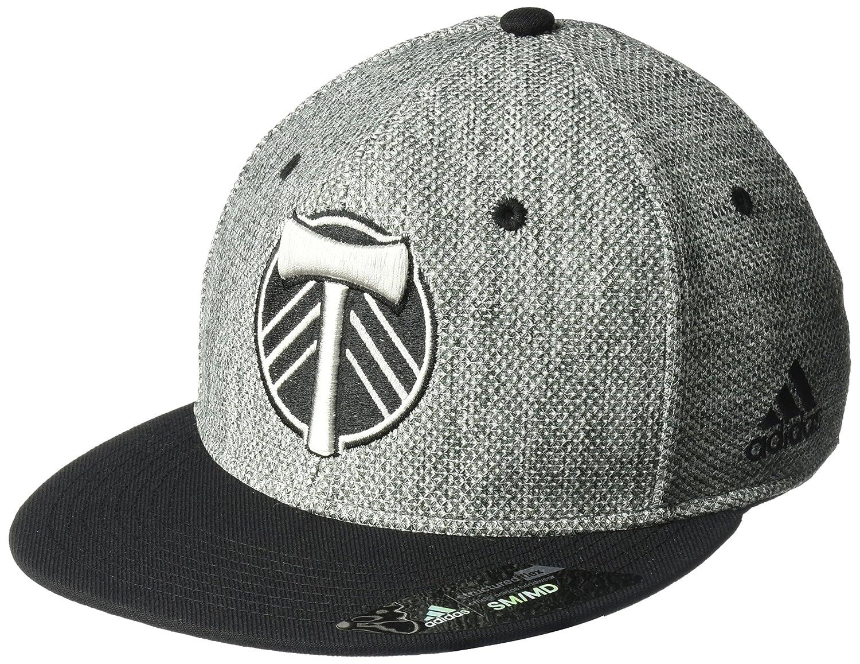 0069df0d9768e Amazon.com   adidas MLS Portland Timbers Men s Heathered Gray Fabric Flat  Visor Flex Hat