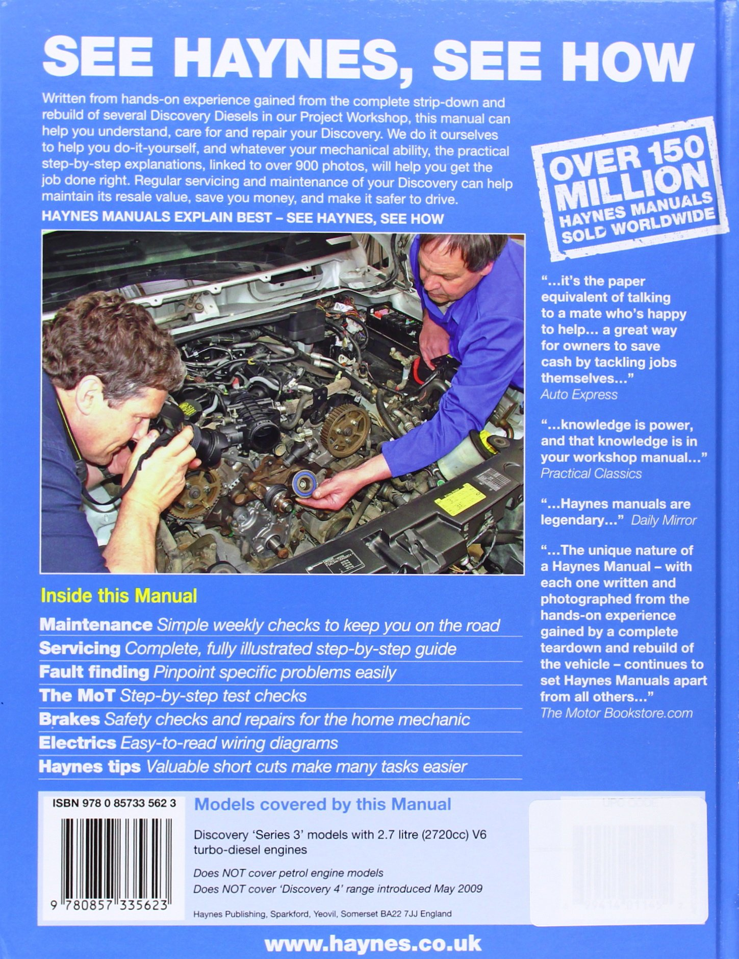Land Rover Discovery Diesel Service And Repair Manual 04 09 Haynes 45 Wiring Diagram Manuals Martynn Randall Fremdsprachige Bcher