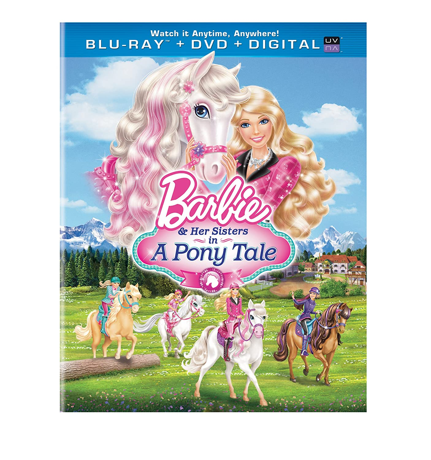 barbie and the pony tale coloring pages – Manet | 1500x1406