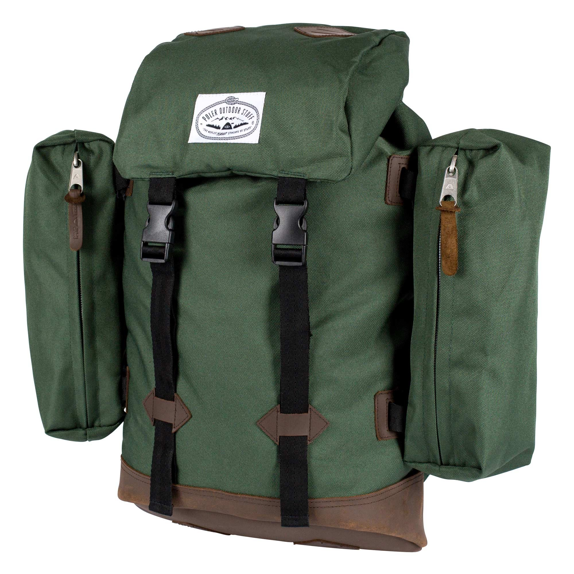 Poler Unisex Classic Rucksack Bag, Leaf Green, One Size