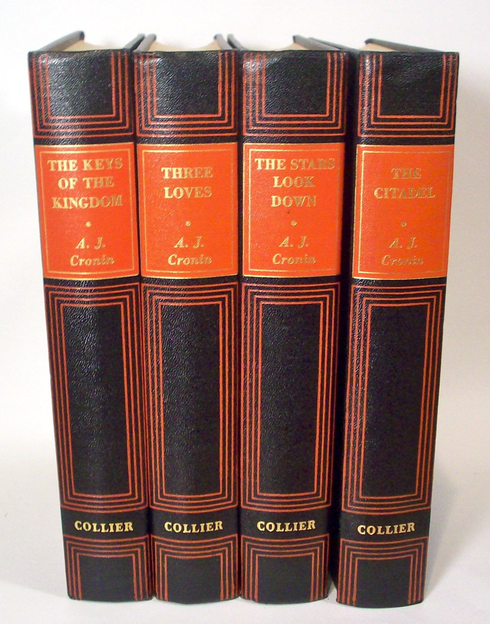 A J  Cronin Set by Collier The Citadel Three Loves The Keys