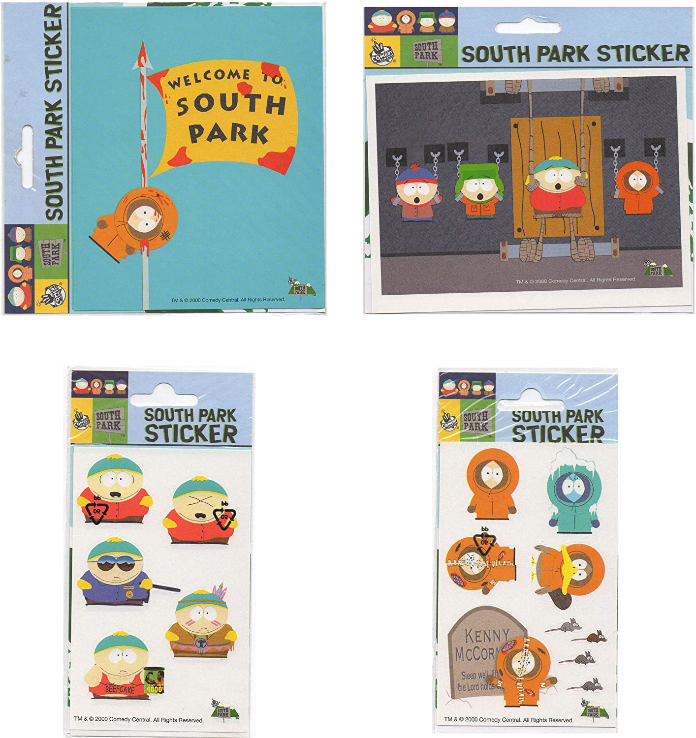 Amazon Com Lot 4 Pcs Stickers Decal South Park Kenny Stan Kyle Cartman Popular Characters Kitchen Dining