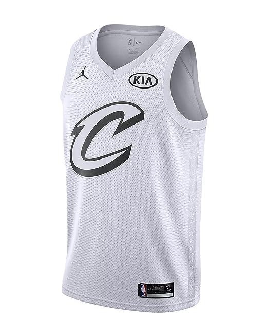 Nike NBA Cleveland Cavaliers Lebron James 23 All Star Game 2018 Los Angeles Jersey Oficial Jordan Brand, Camiseta de Hombre: Amazon.es: Ropa y accesorios