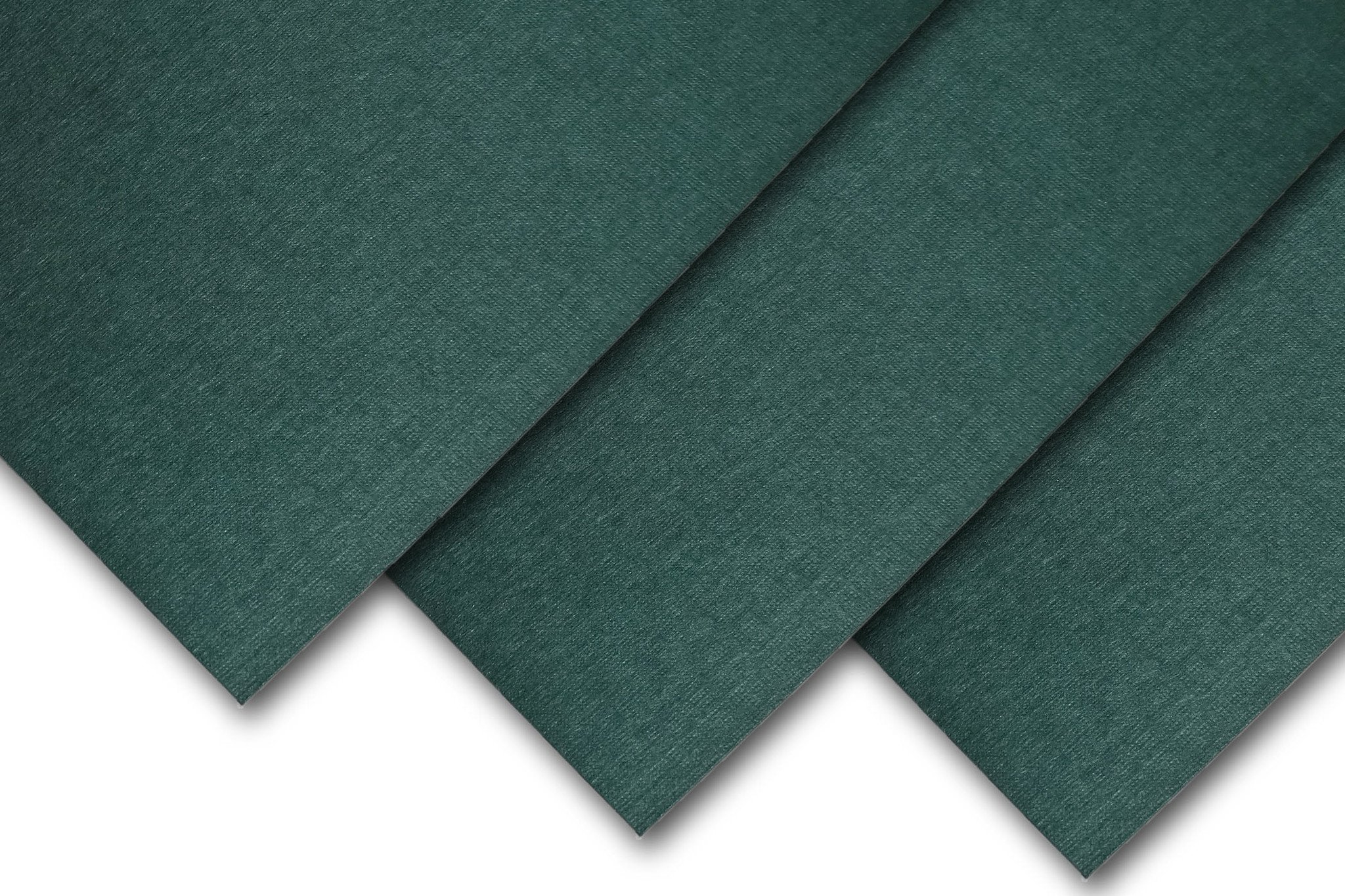Royal Linen Textured 5'' x 7'' inch 80# Cover Card Stock - 216gsm 30% Recycled Content (Emerald, 200 Pack) by CutCardStock