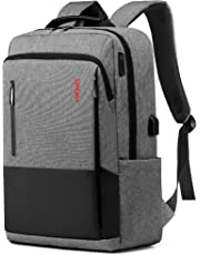 Laptop Backpack for Travel,Anti Theft Slim Durable Computer Bags with USB Charging Port,Water Resistant College School Laptop Bags for Men Fits 15.6-17 Inch Laptop and Notebook