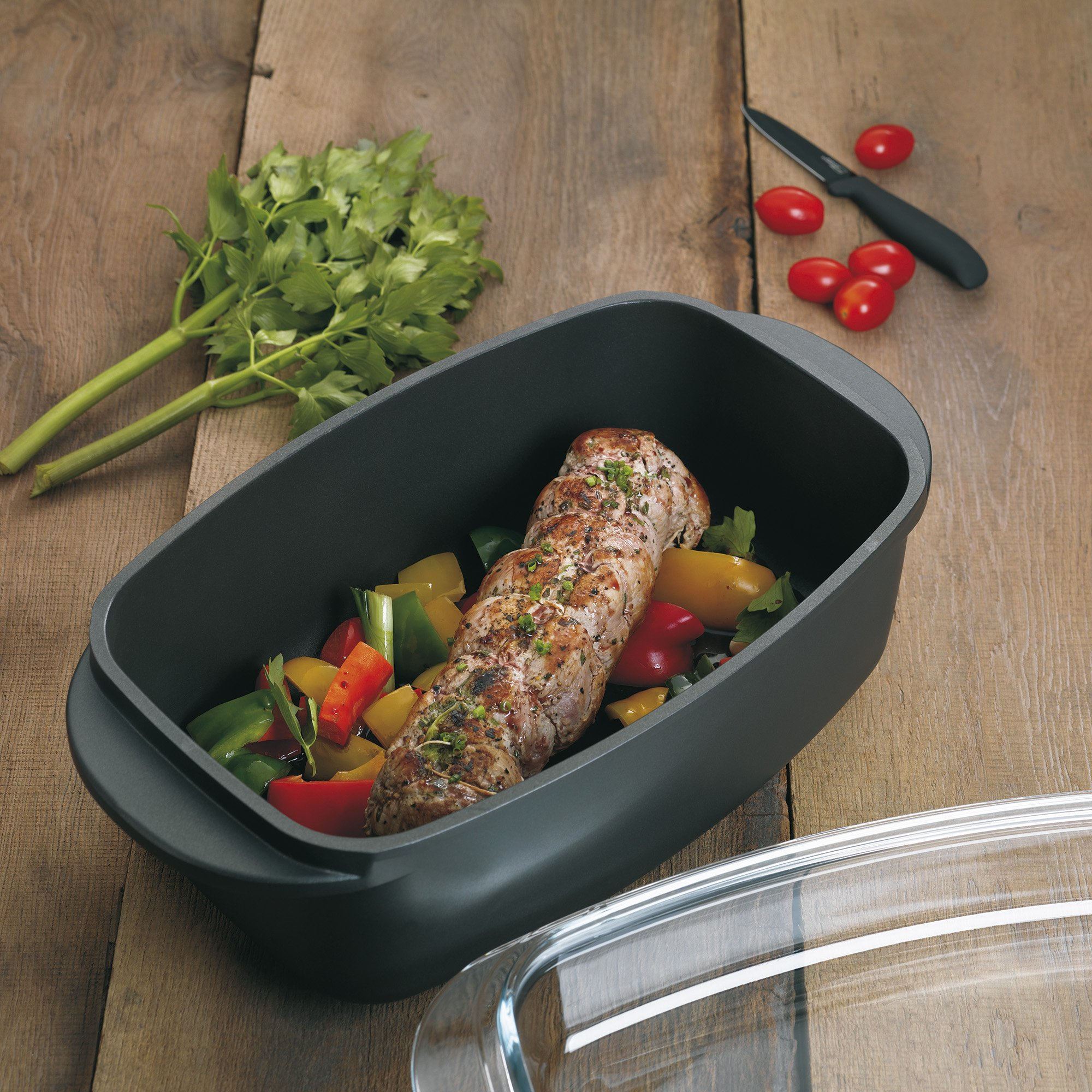 Kela Kerros 15152 Roasting Pan 5 L Rectangular with Greblon Stonehenge Non-Stick Coating by Kela (Image #6)