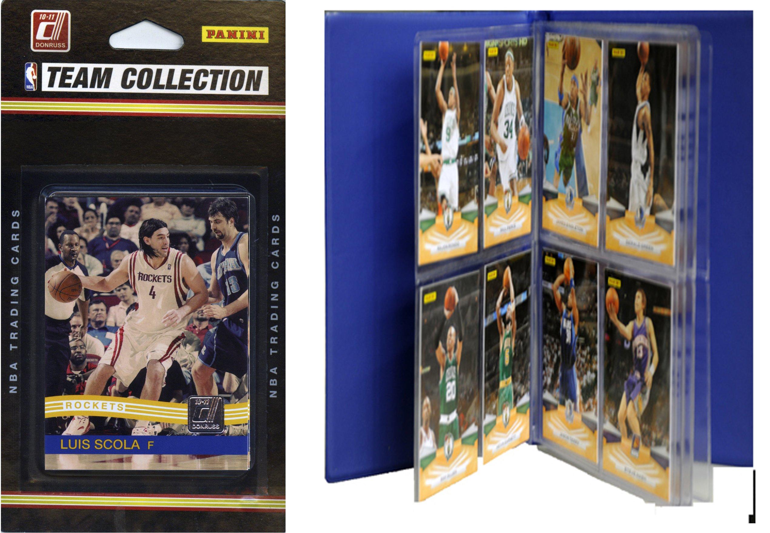 NBA Houston Rockets Licensed 2010-11 Donruss Team Set Plus Storage Album by C&I Collectables