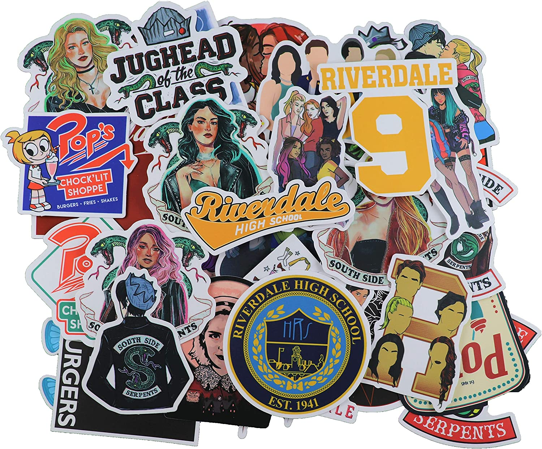 50 pcs Riverdale tv Show Creative DIY Stickers Funny Decorative Cartoon for Cartoon PC Luggage Computer Notebook Phone Home Wall Garden Window Snowboard