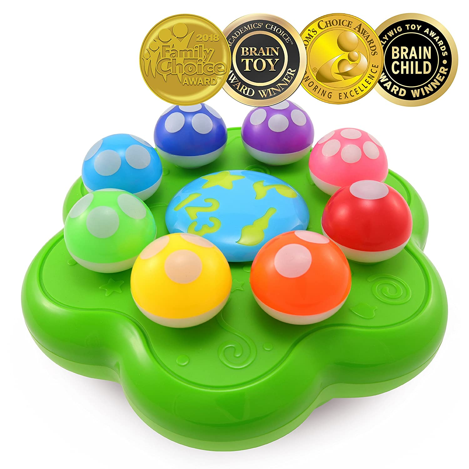BEST LEARNING Mushroom Garden – Educational Toy to Learn Numbers, Colors, Music and Quiz for Toddlers Kids