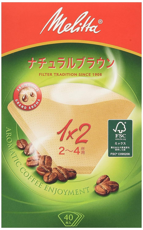 メリタ フィルターペーパー アロマジック ナチュラルブラウン【2~4杯用 40枚入】PA1X2NB