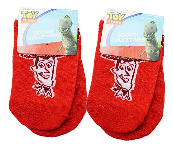 Disney Pixars Toy Story Retro Woody Red Colored Kids Socks (2 Pairs, ...