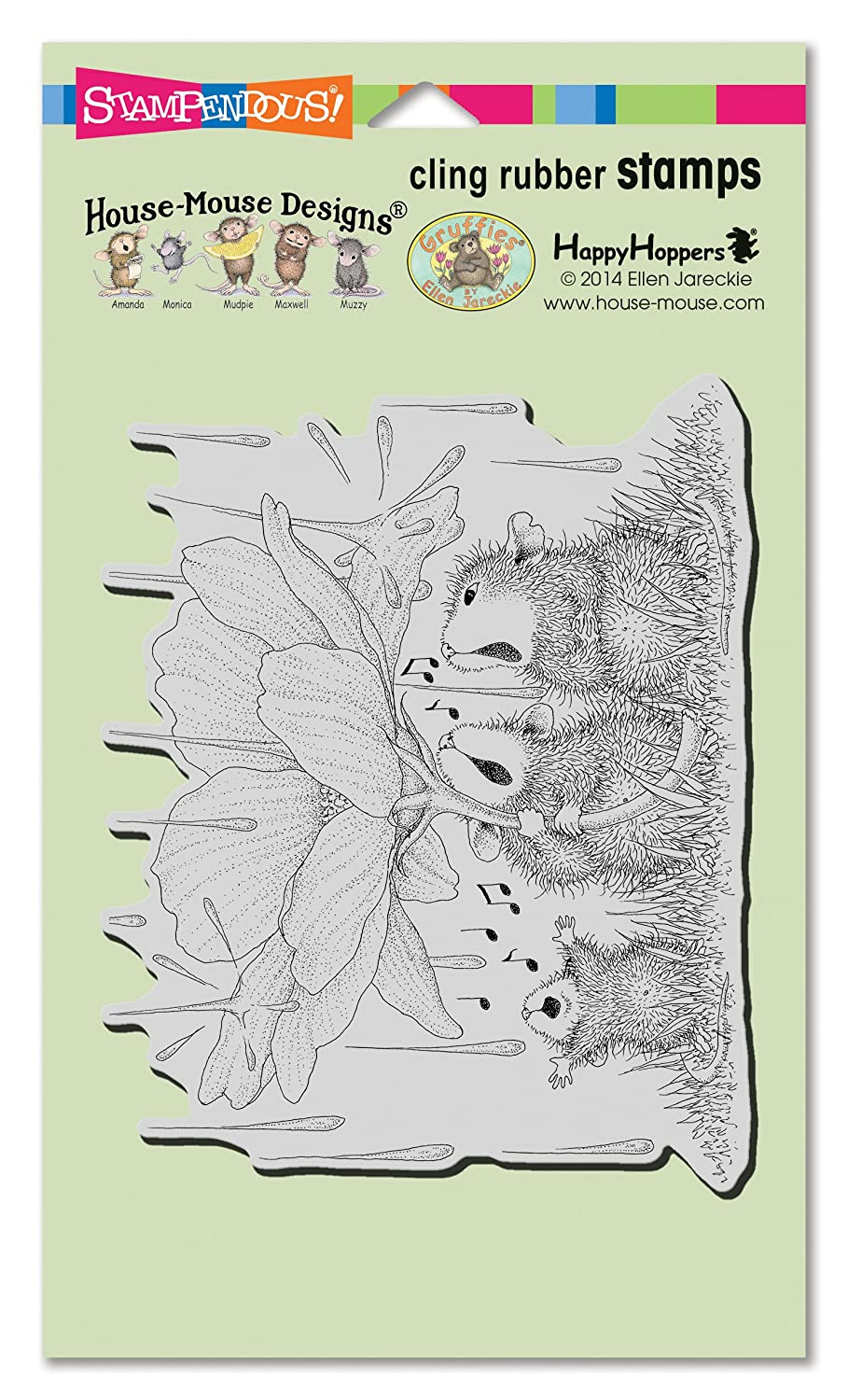 Stampendous HMCR116 House Mouse Cling Stamp, Peony Song