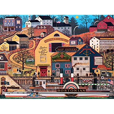 Buffalo Games - Charles Wysocki - The Bostonian - 1000 Piece Jigsaw Puzzle: Toys & Games