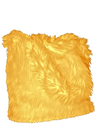 0654f1208fb CHC-Beverly Hills Luxurious Signature Fluffy Fur Weekender Bag Bright-Yellow  Large Overnight Duffel