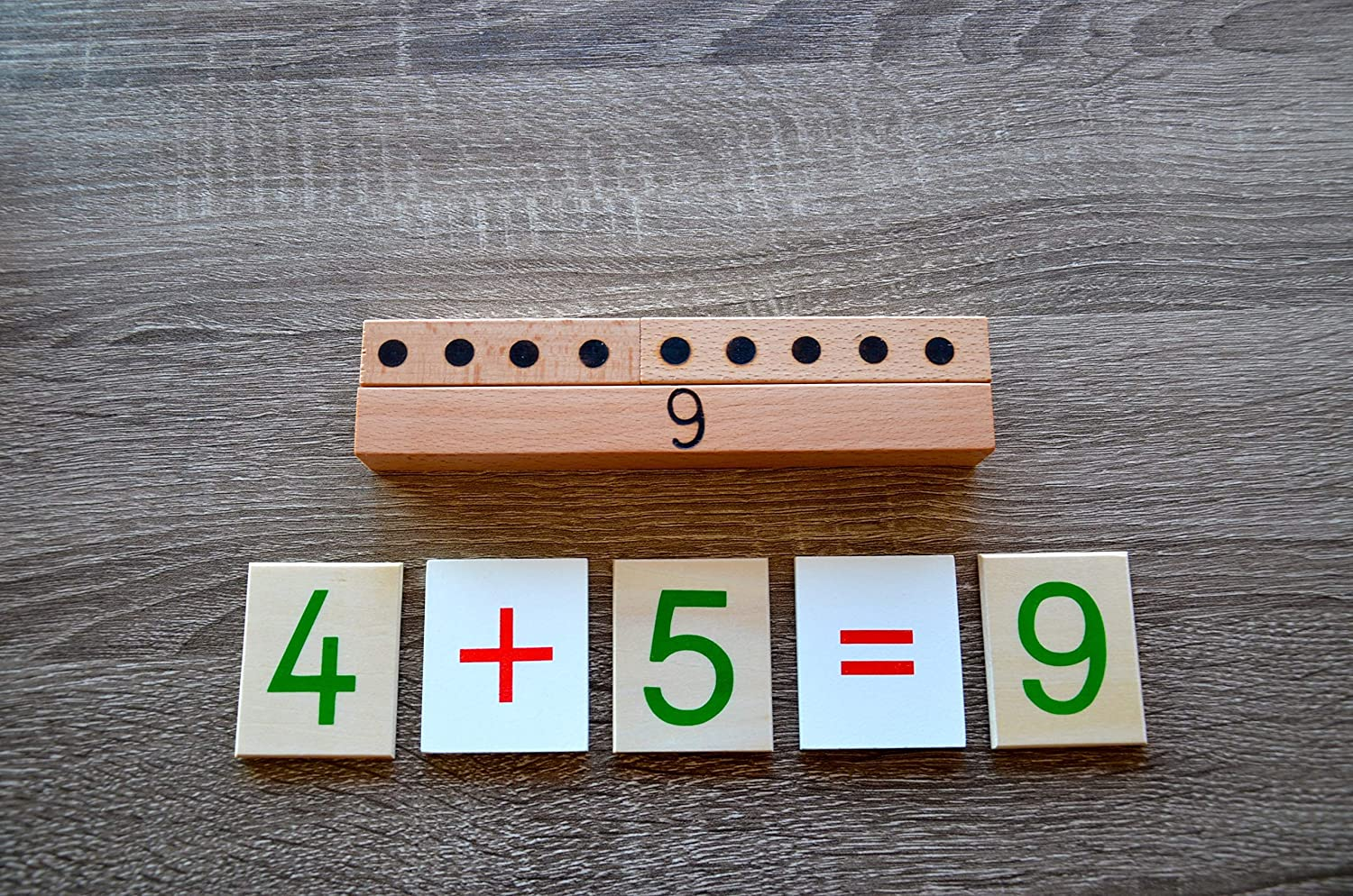 Montessori personalized math learning number puzzle Preschool Math learning puzzle make 10 wooden toy personalized kids gift