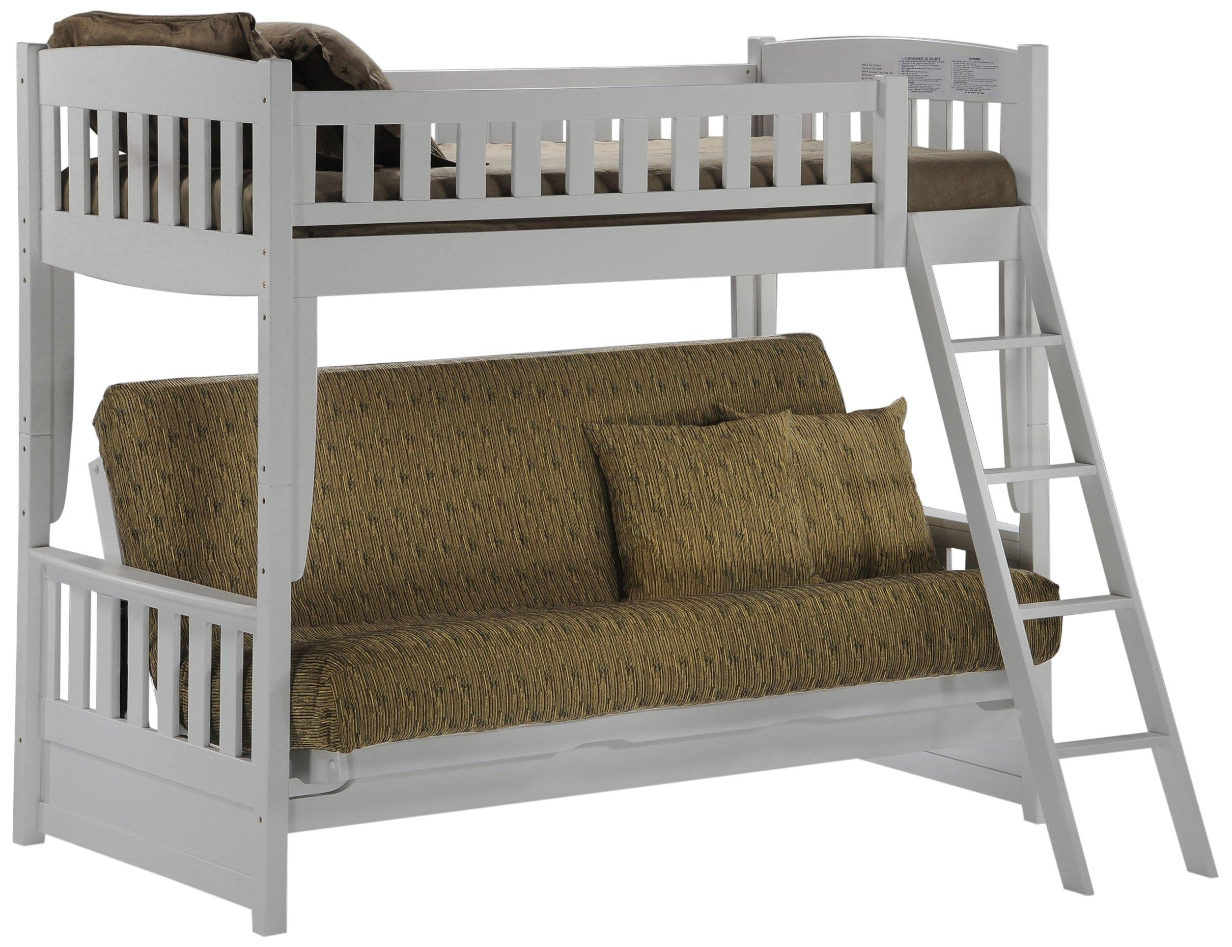 Night & Day Furniture Cinnamon Futon Bunk, White Finish by Night & Day Furniture