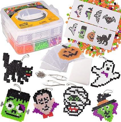 "Pumpkin Fuse Bead Pegboard Kids Perler Halloween 4/"" x 3/"" Jack o Lantern ABCraft"