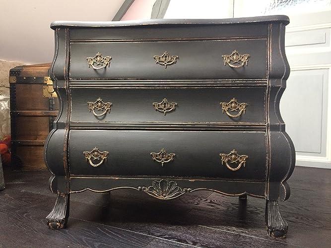 Petite commode hollandaise ou meuble d\'appoint noir mat: Amazon.fr ...