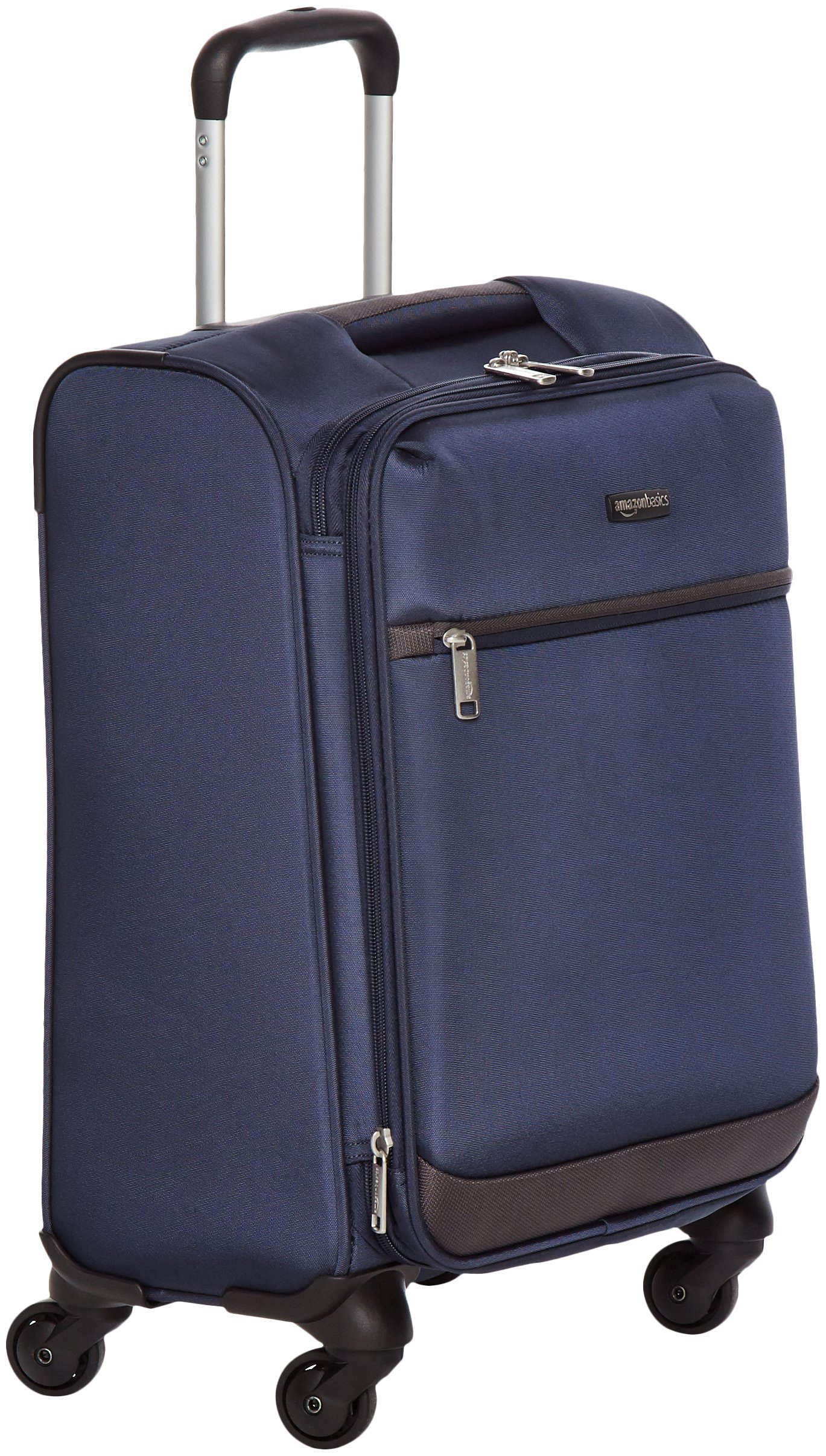 AmazonBasics Softside Carry-On Spinner Luggage Suitcase - 21 Inch, Navy Blue by AmazonBasics