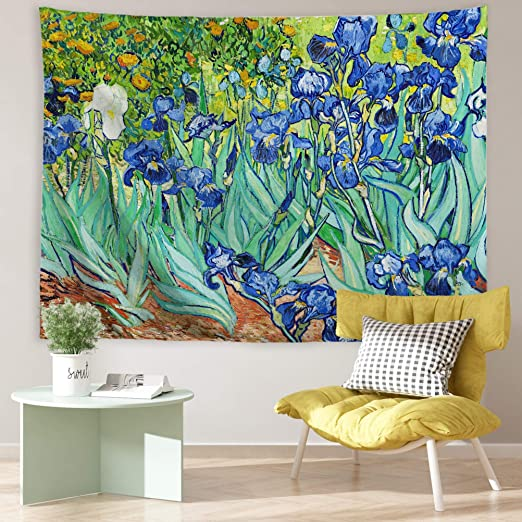 Blue Flower Hanging Interior Wall Art Home Decor