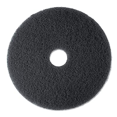 "3M Black Stripper Pad 7200, 13"" Floor Care Pad (Case of 5): Floor Cleaning Machine Pads: Industrial & Scientific"