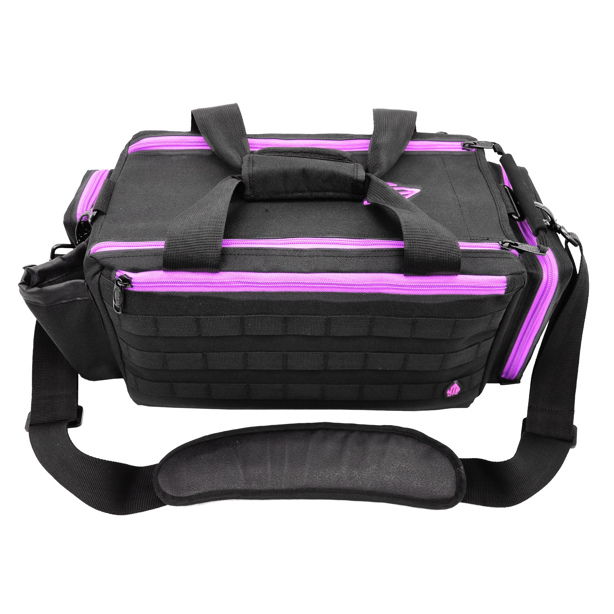 UTG All in One Range/Utility Go Bag, Black/Violet, 21'' x 10'' x 9''