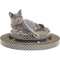 Kitty City Interactive Ball Track Cat Toy - 2 Levels of Interactive Play, Cat Scratching Toy