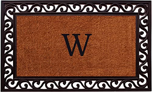 Home More 100061830W Rembrandt Monogram Doormat Letter W