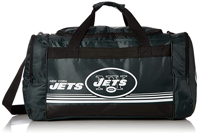 e1aee03a450f New York Jets Medium Striped Core Duffle Bag