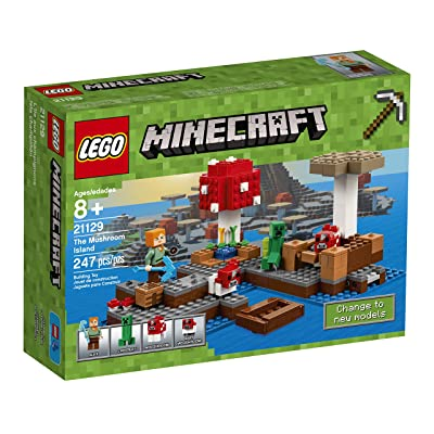 LEGO Minecraft The Mushroom Island 21129: Toys & Games