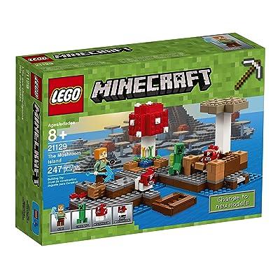 LEGO Minecraft The Mushroom Island 21129: Toys & Games