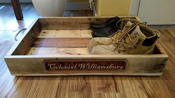Delicieux Rustic Wood Boot And Shoe Tray | Boot Tray | Shoe Tray | Entryway Organizer  |
