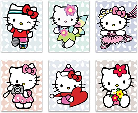 "Hello Kitty poster wall art home decor photo print 24x24/"" inches"