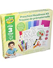 Crayola My First Preschool Readiness Kit, Art Supplies for Toddlers, for Girls and Boys, Gift for Boys and Girls, Kids, Ages 3, 4, 5,6 and Up, Back to school, School supplies, Arts and Crafts,  Gifting