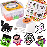 3000 Pc Monster Fuse Bead Kit with 8 Keychains - Ghost, Witch, Vampire & More - Spooky Halloween Ornaments & Decorations - Gr