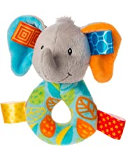 Taggies Rattle Baby Toy, Little Leaf Elephant