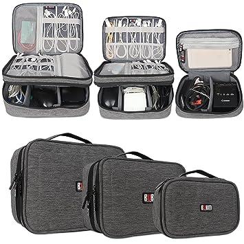 BUBM Estuches para Cables Bolsa para Aparato Electronico 3 Piezas para Guardar Memorias de USB Bolso de Ordenados Baterias Gadgets Mochilas de ...