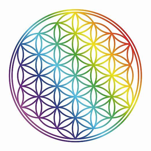 PPS. Imaging para Pared de la Flor de la Vida Arco Iris Color ...